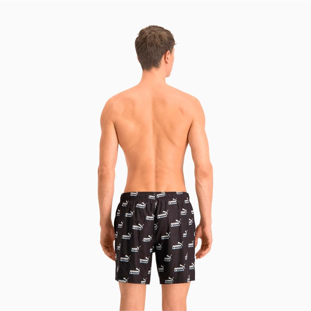 Изображение Puma Шорты для плавания Swim Men's No. 1 Logo All-Over-Print Mid Shorts #2