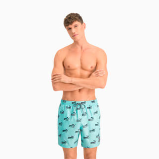 Зображення Puma Шорти для плавання Swim Men's No. 1 Logo All-Over-Print Mid Shorts