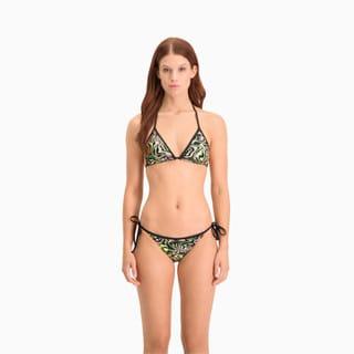 Зображення Puma Топ Swim Women's All-Over-Print Triangle Bikini Top