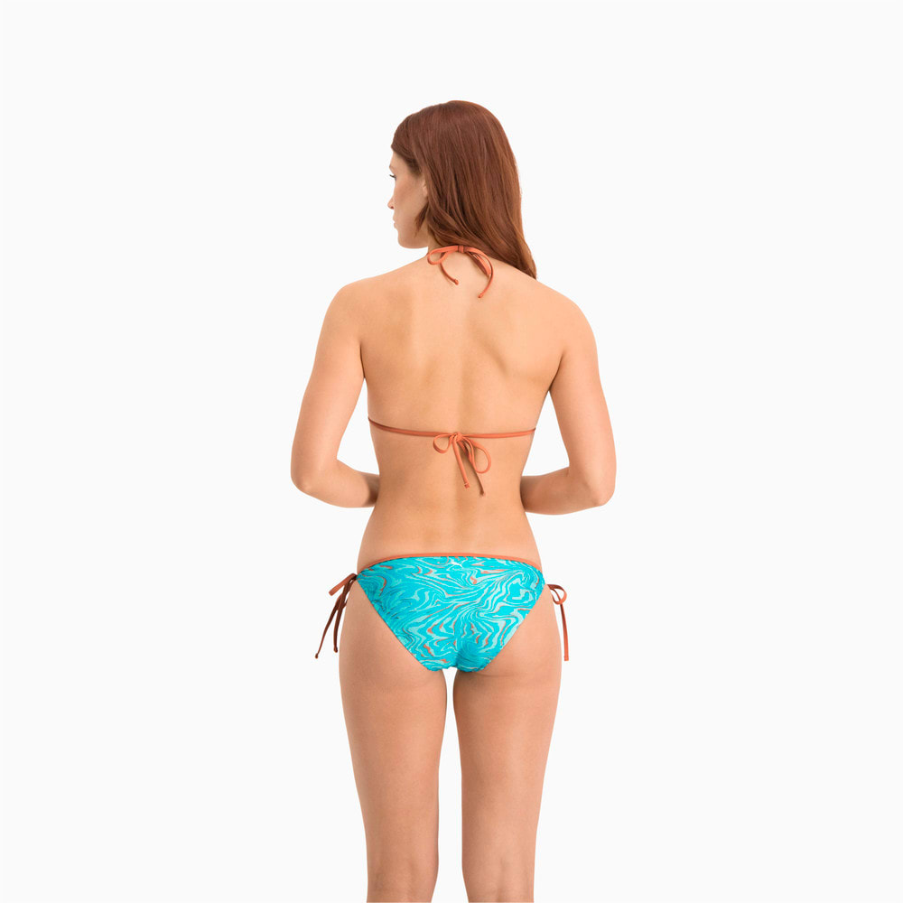 Изображение Puma Плавки Swim Women's All-Over-Print Side Tie Brief #2: brown / blue