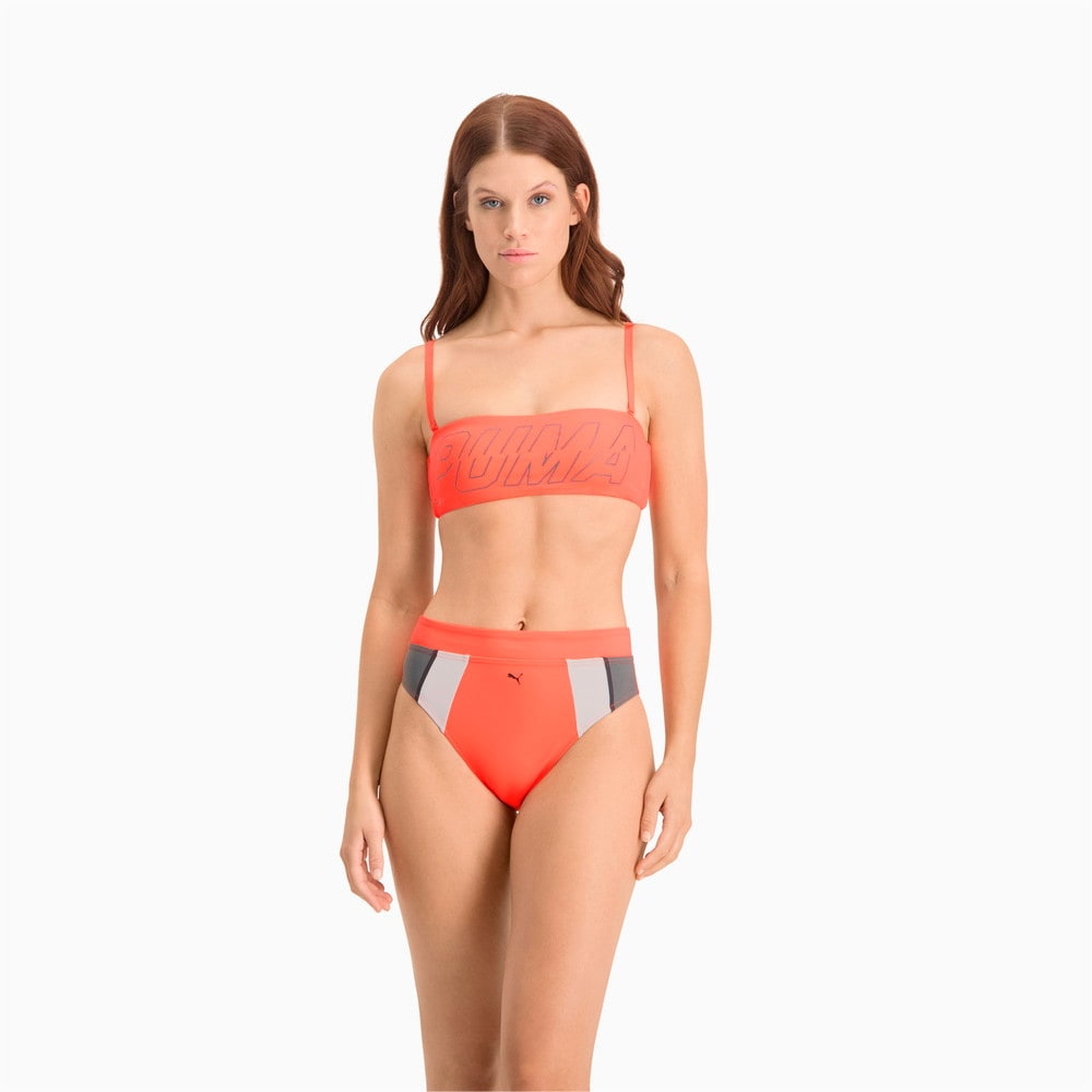 Изображение Puma Плавки Swim Women's High Waist Brief #1: pink