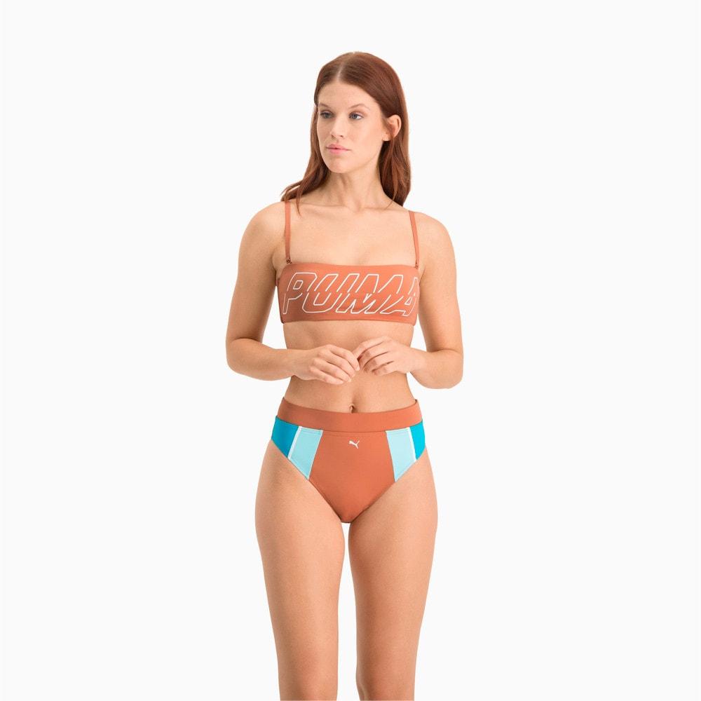 Изображение Puma Топ-бандо для плавания Swim Women's Bandeau Top #1: Brown