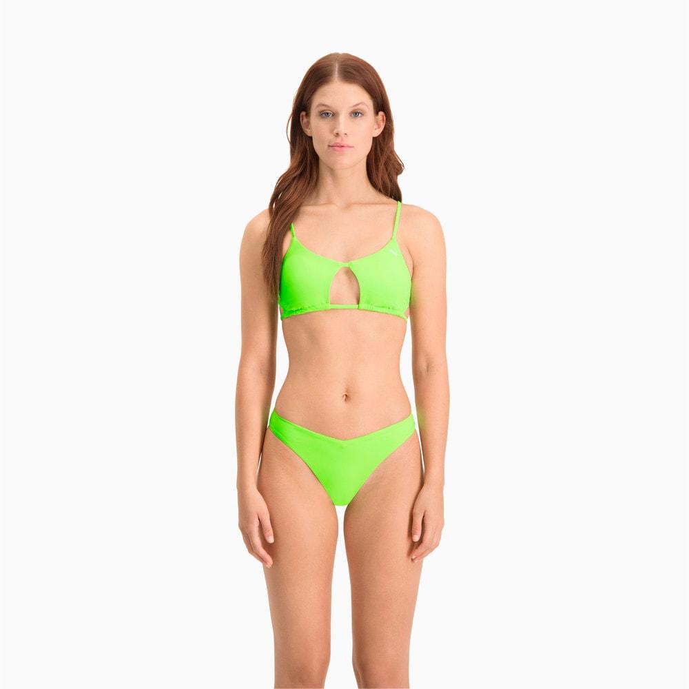Изображение Puma Лиф для плавания Swim Women's Peek-a-Boo Top #1: neon green