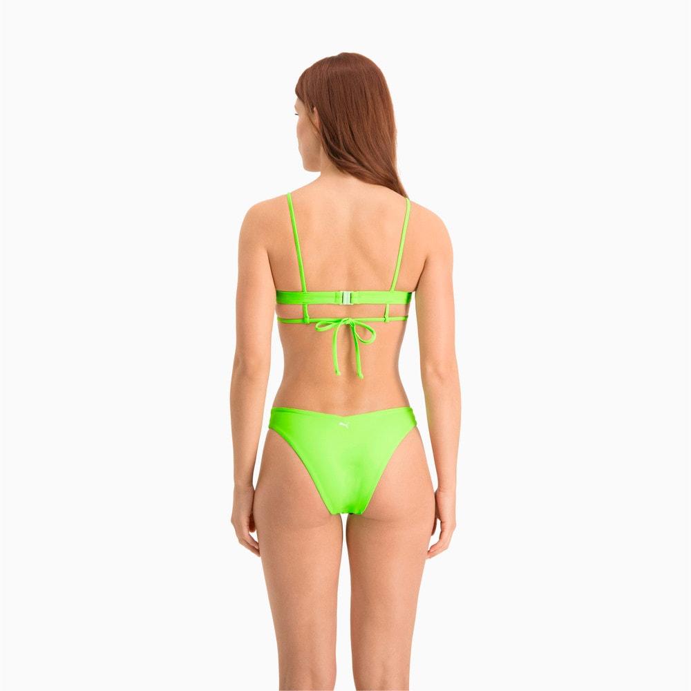 Изображение Puma Лиф для плавания Swim Women's Peek-a-Boo Top #2: neon green