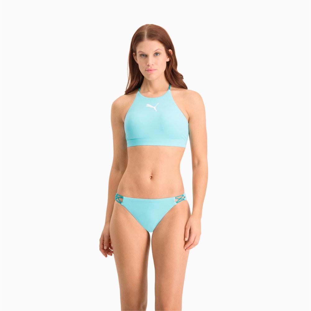 Изображение Puma Топ для плавания Swim Women's High Neck Top #1: Angel Blue