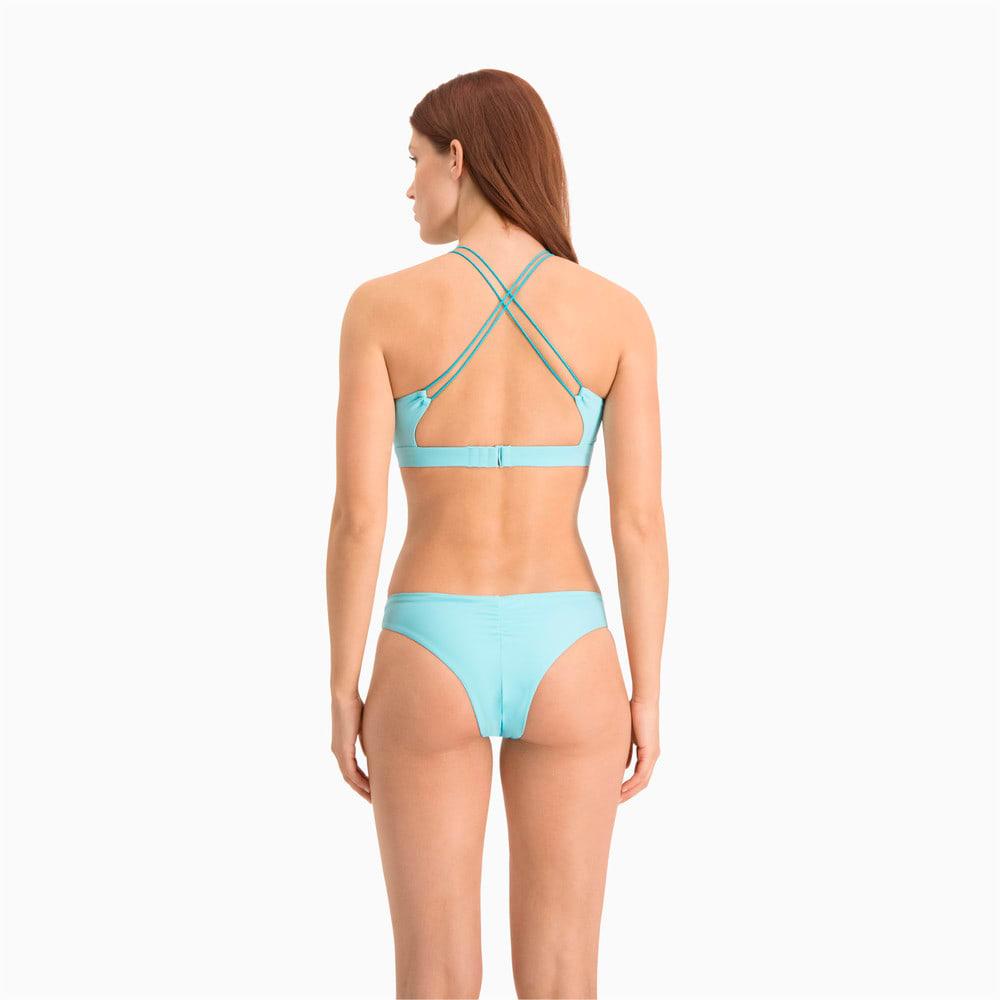 Изображение Puma Топ для плавания Swim Women's High Neck Top #2: Angel Blue