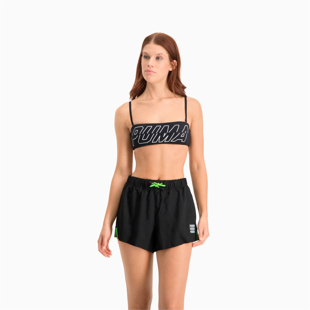 Изображение Puma Шорты для плавания Swim Women's High Waist Shorts #1: black combo