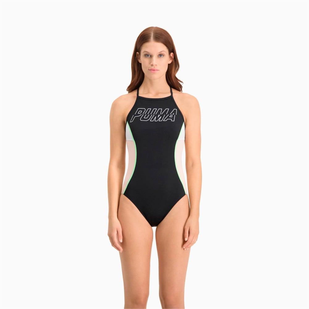 Изображение Puma Купальник Swim Women's Racer Back Swimsuit #1: black combo