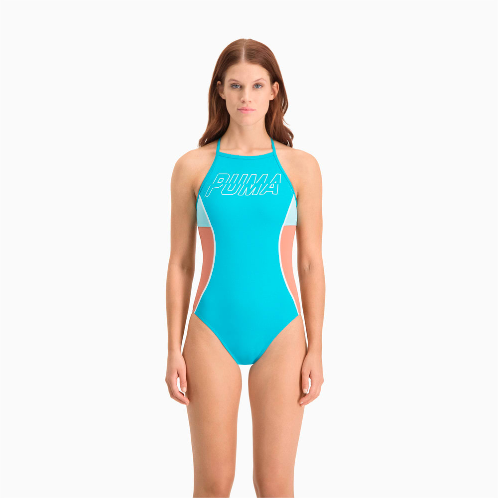 Зображення Puma Купальник Swim Women's Racer Back Swimsuit #1: scuba blue