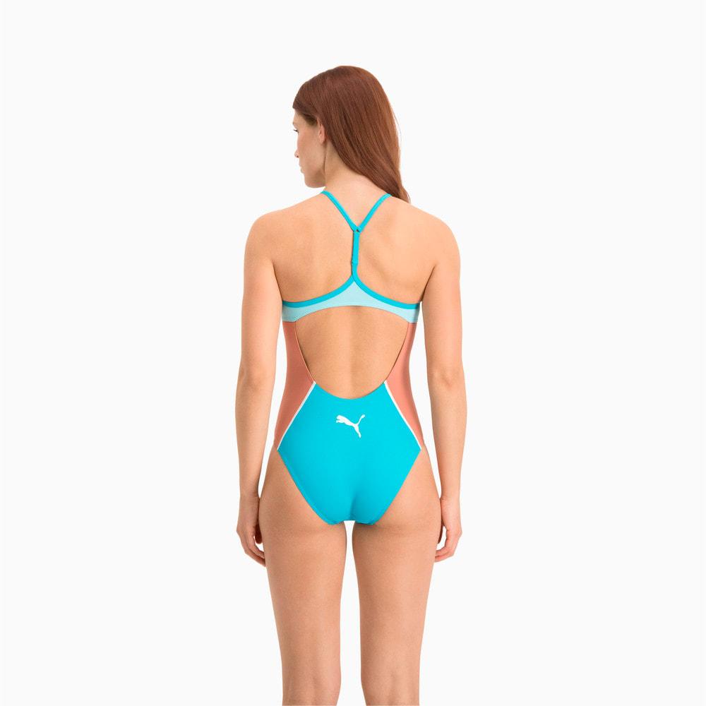 Зображення Puma Купальник Swim Women's Racer Back Swimsuit #2: scuba blue