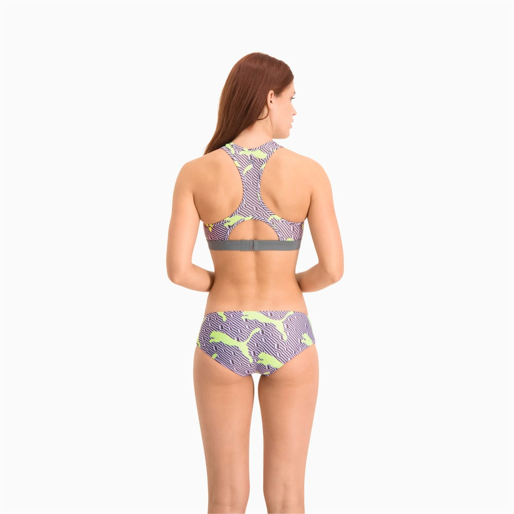Изображение Puma Лиф для плавания Swim Women's All-Over-Print High Neck Top #2