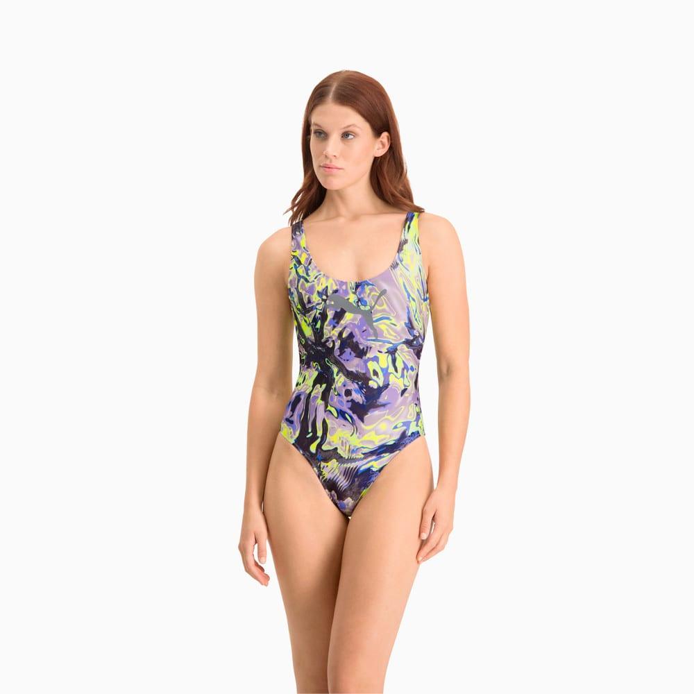 Изображение Puma Купальник Swim All-Over-Print Swimsuit #1