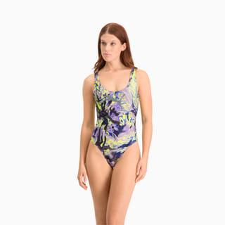 Изображение Puma Купальник Swim All-Over-Print Swimsuit