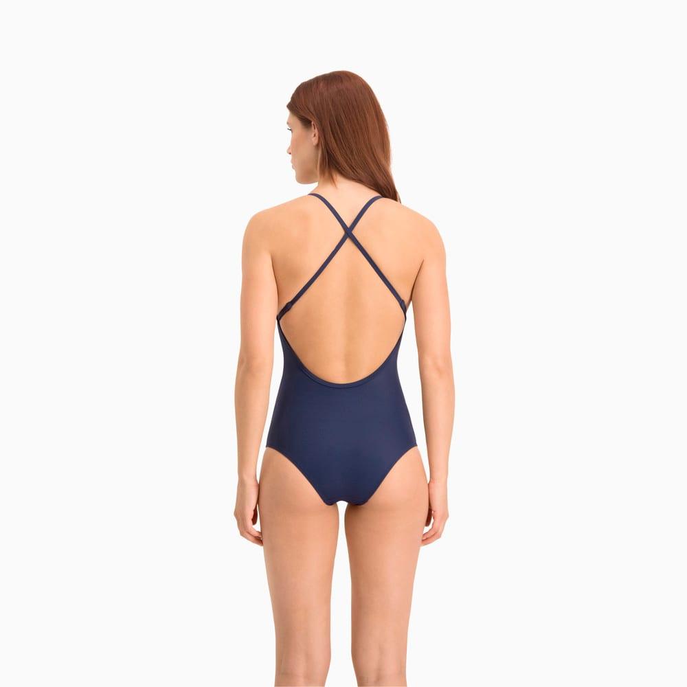 Зображення Puma Купальник Swim Women's V-Neck Cross-back Swimsuit #2: navy