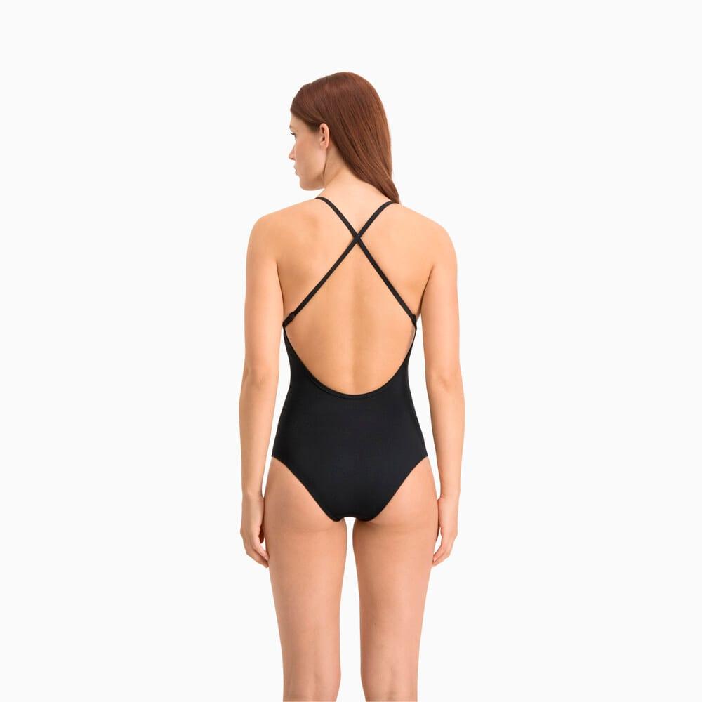 Зображення Puma Купальник Swim Women's V-Neck Cross-back Swimsuit #2: black