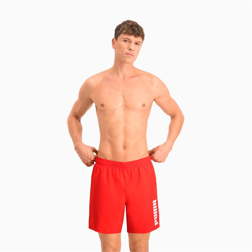 Изображение Puma Шорты для плавания PUMA SWIM MEN MID SHORTS 1P #1: Red