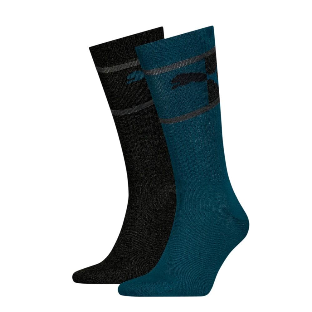 Зображення Puma Шкарпетки Men's Blocked Logo; набір з 2 пар #1: blue / grey