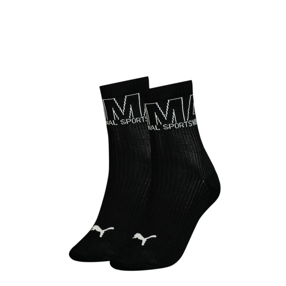Зображення Puma Шкарпетки Women's Outline Logo; набір з 2 пар #1: black combo