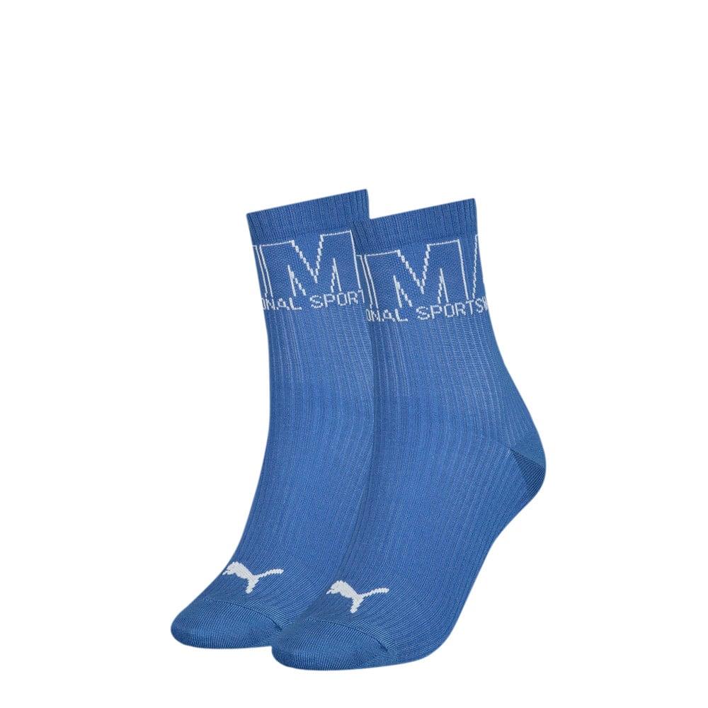 Изображение Puma Короткие носки Women's Outline Logo; набор из 2 пар #1: blue combo