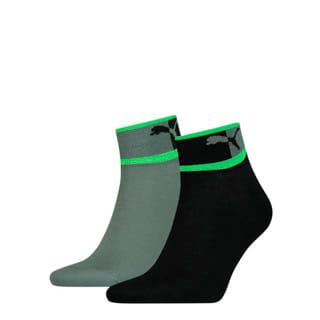 Изображение Puma Носки Men's Blocked Logo Quarter Socks 2 pack