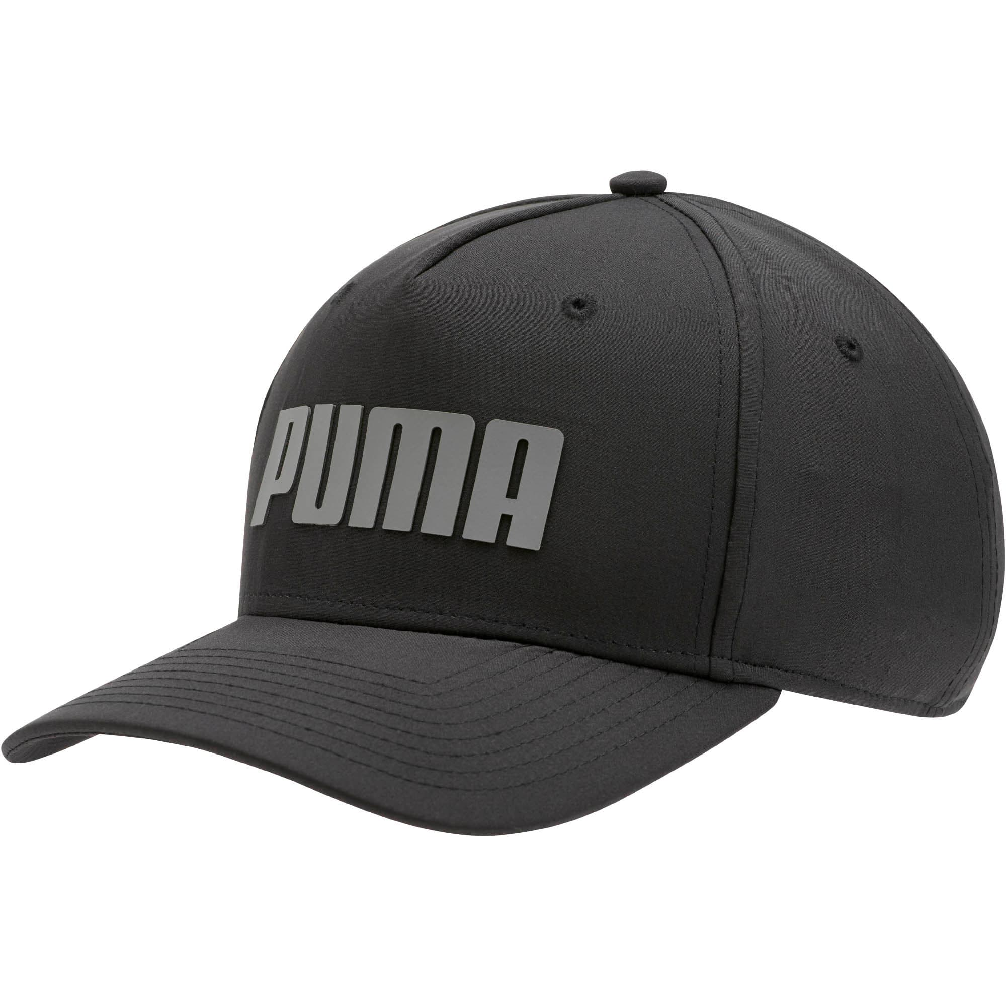 Thumbnail 1 of Go Time Flex Snapback Hat, Puma Black, medium