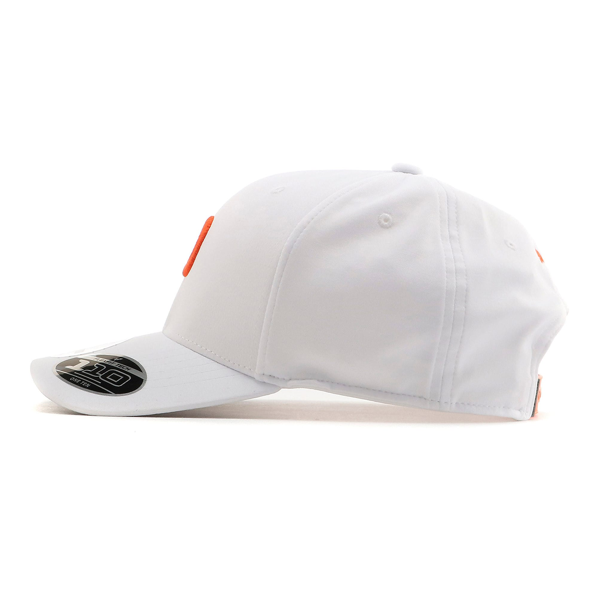 Thumbnail 3 of ゴルフ Pマークスナップバックキャップ, Bright White-Vibrant Orange, medium-JPN