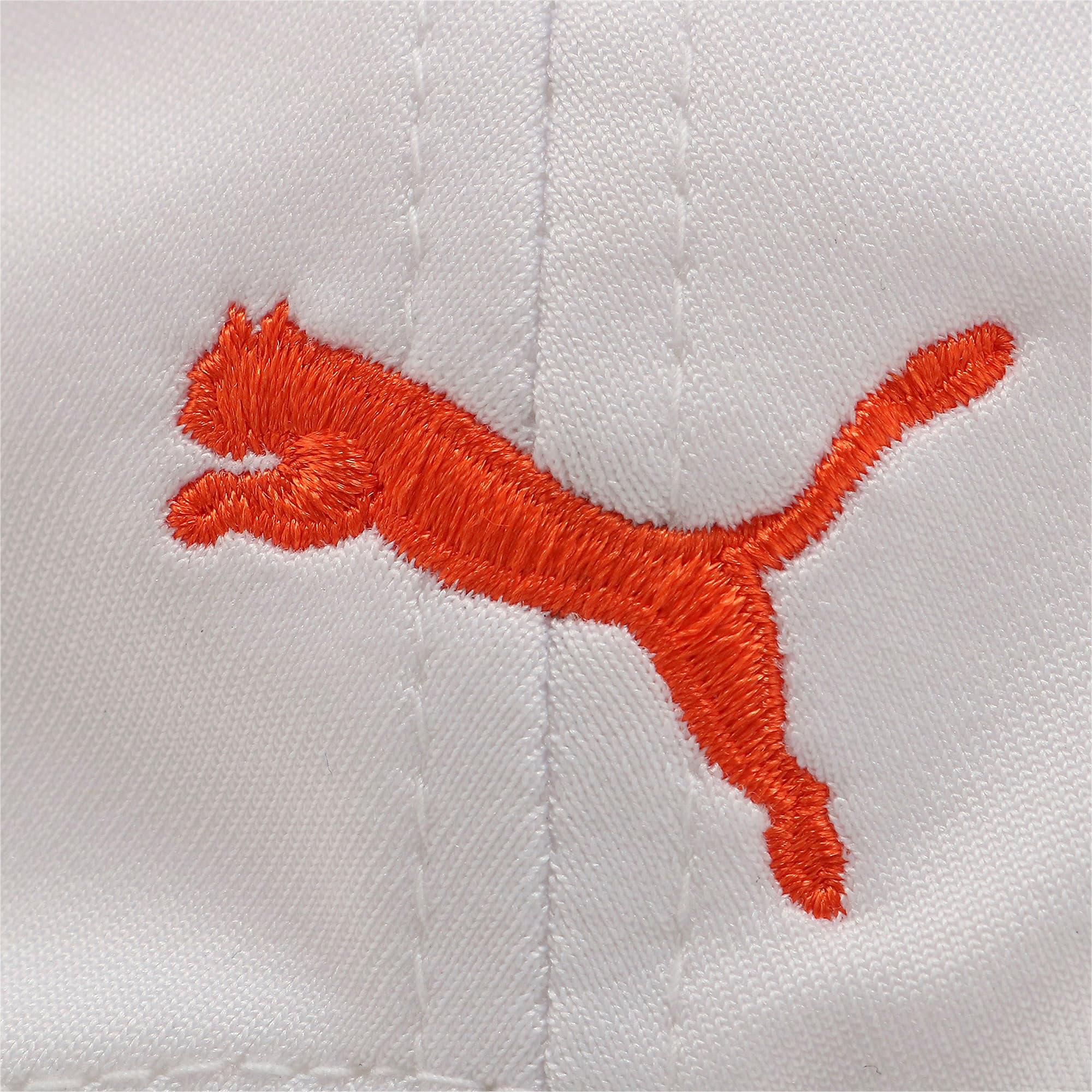 Thumbnail 4 of ゴルフ Pマークスナップバックキャップ, Bright White-Vibrant Orange, medium-JPN