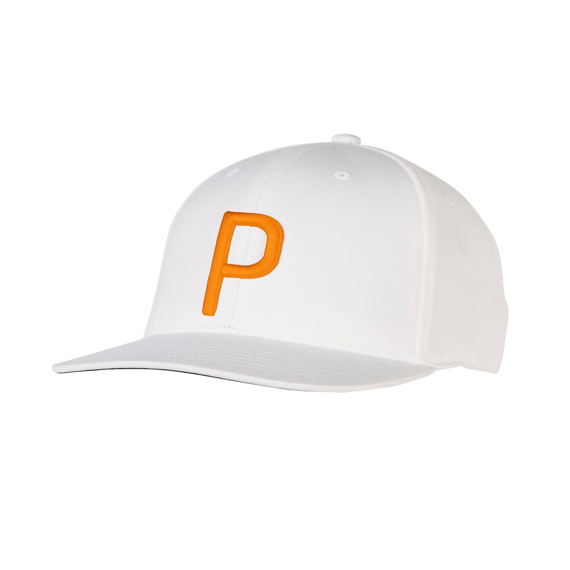 Thumbnail 1 of ゴルフ Pマークスナップバックキャップ, Bright White-Vibrant Orange, medium-JPN