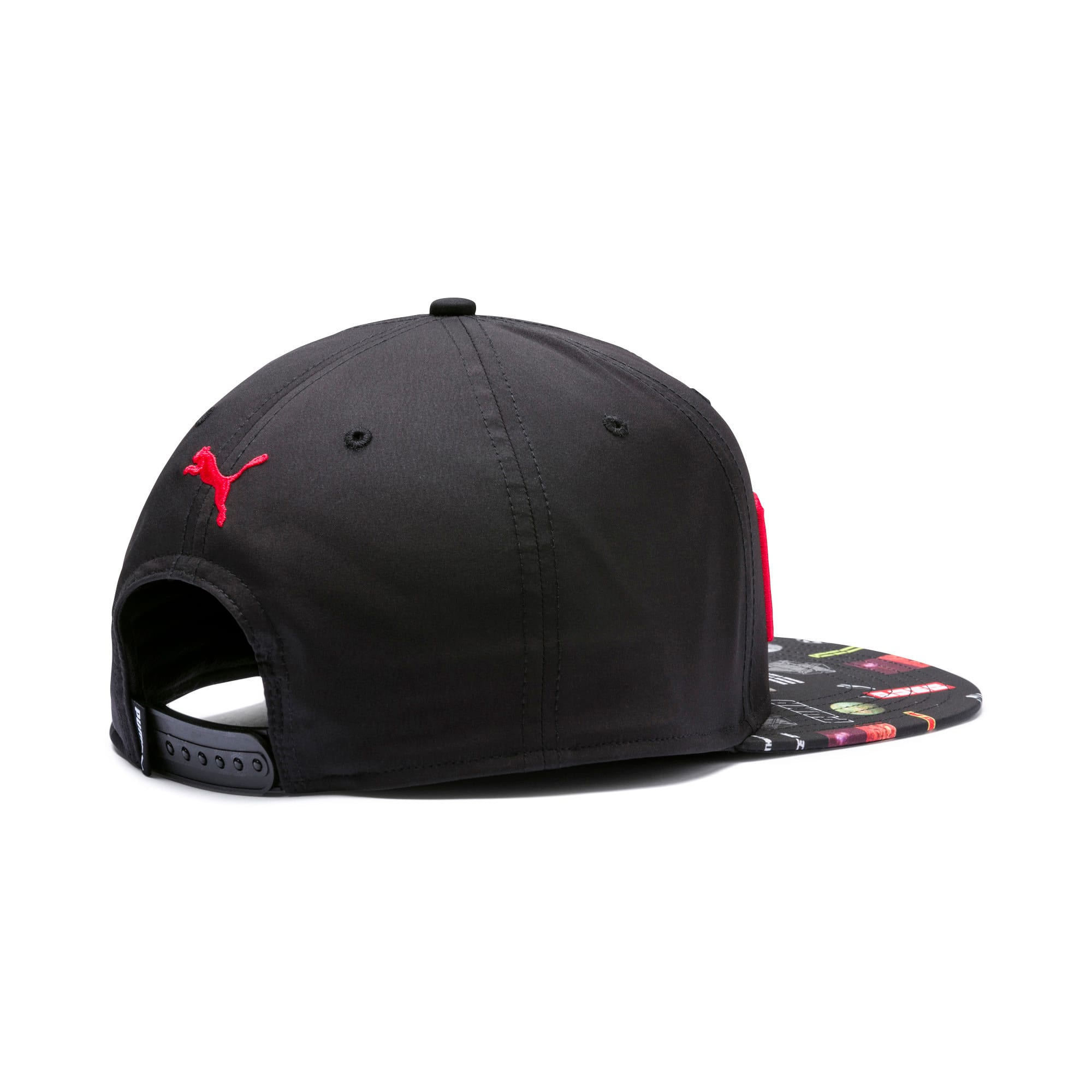 Thumbnail 2 of Flatbrim Cap, Puma Black-Graphic, medium