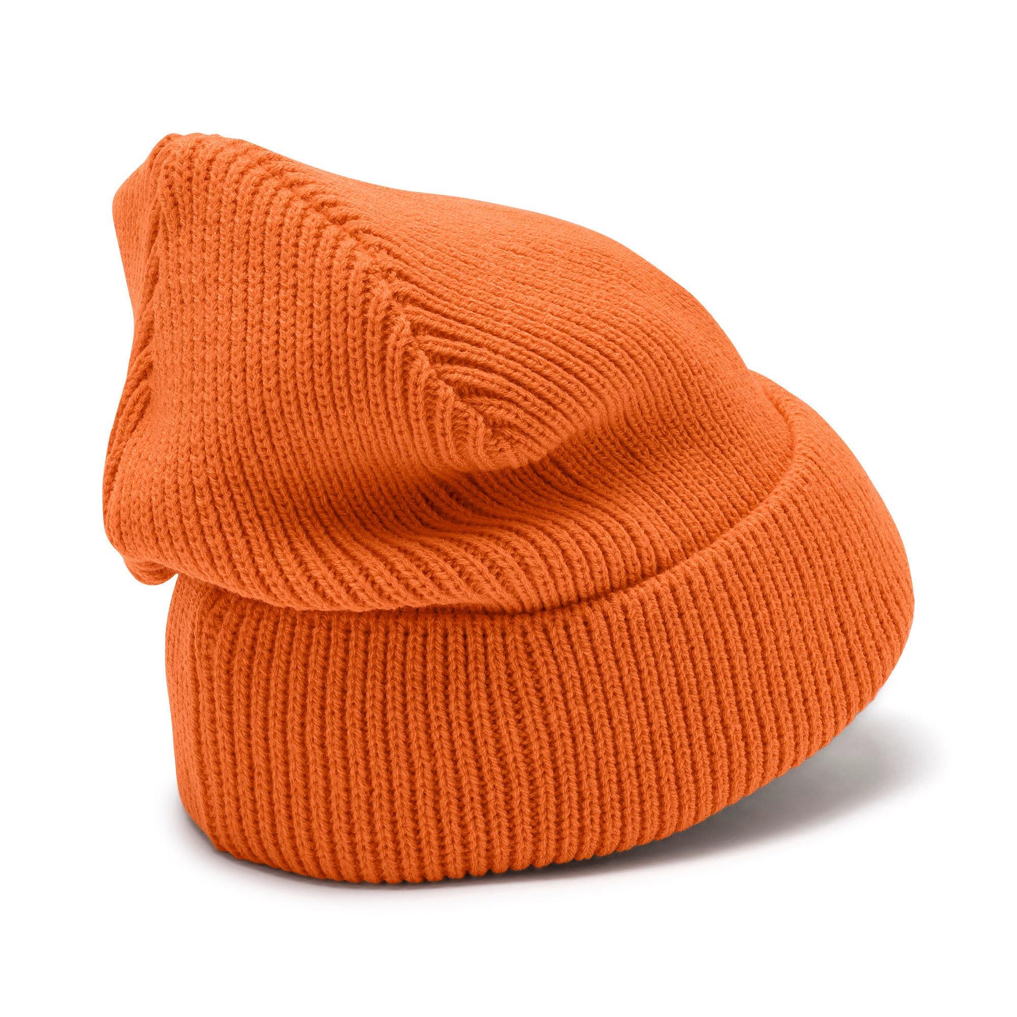 Miniatura 3 de Gorro de lana clásico acanalado, Jaffa Orange, mediano