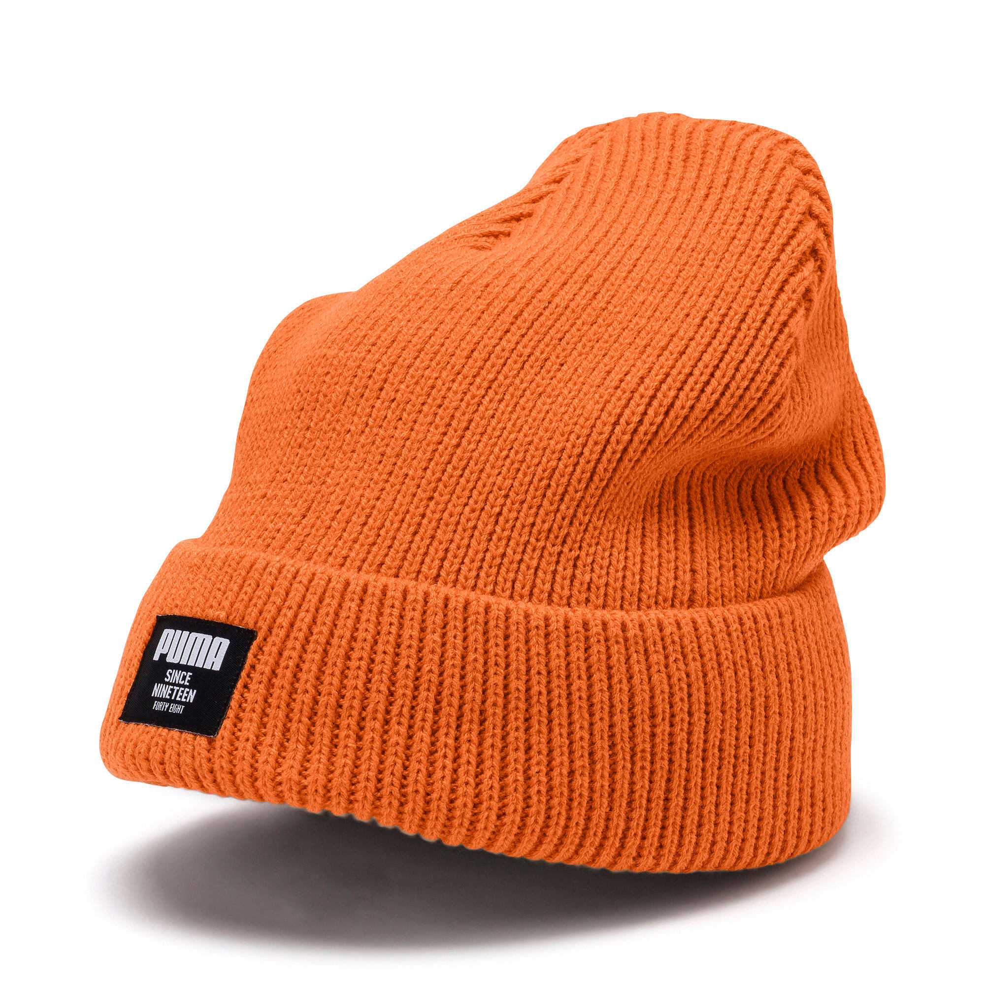 Miniatura 1 de Gorro de lana clásico acanalado, Jaffa Orange, mediano