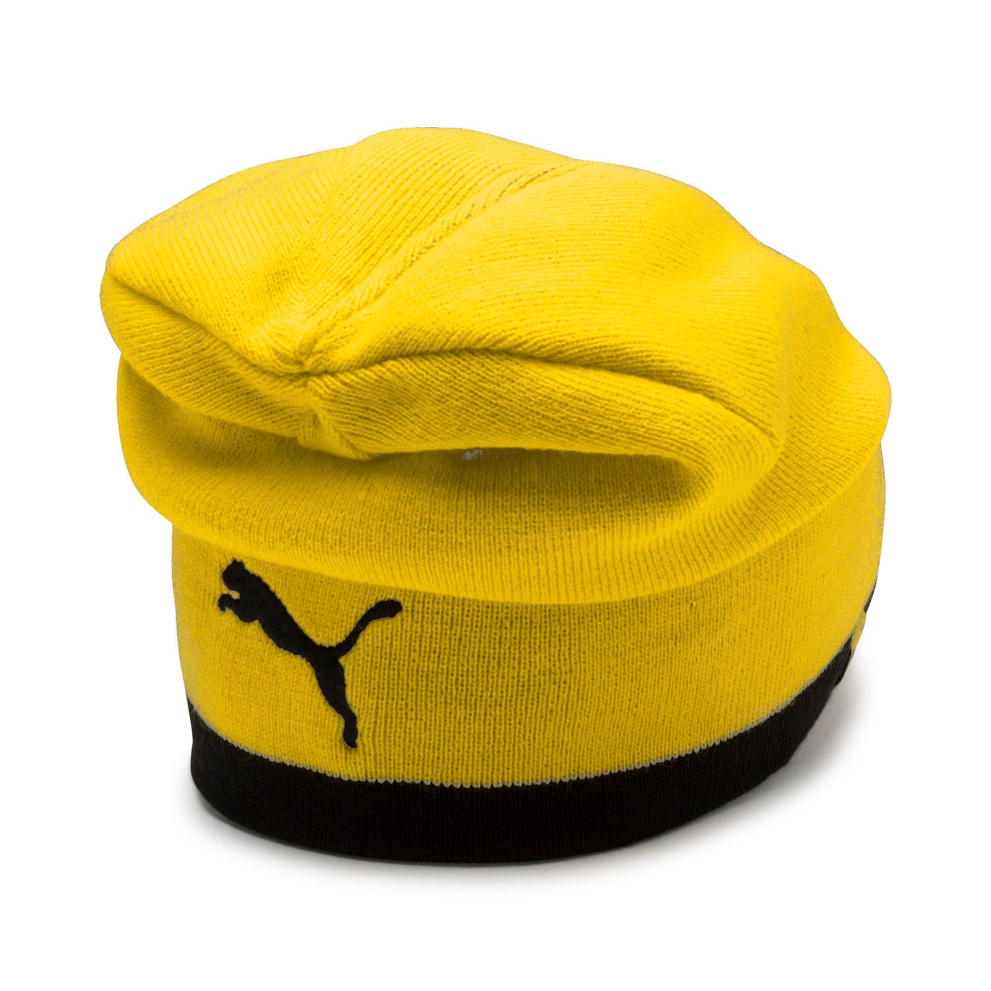 Thumbnail 2 of BVB Reversible Beanie, Puma Black-Cyber Yellow, medium