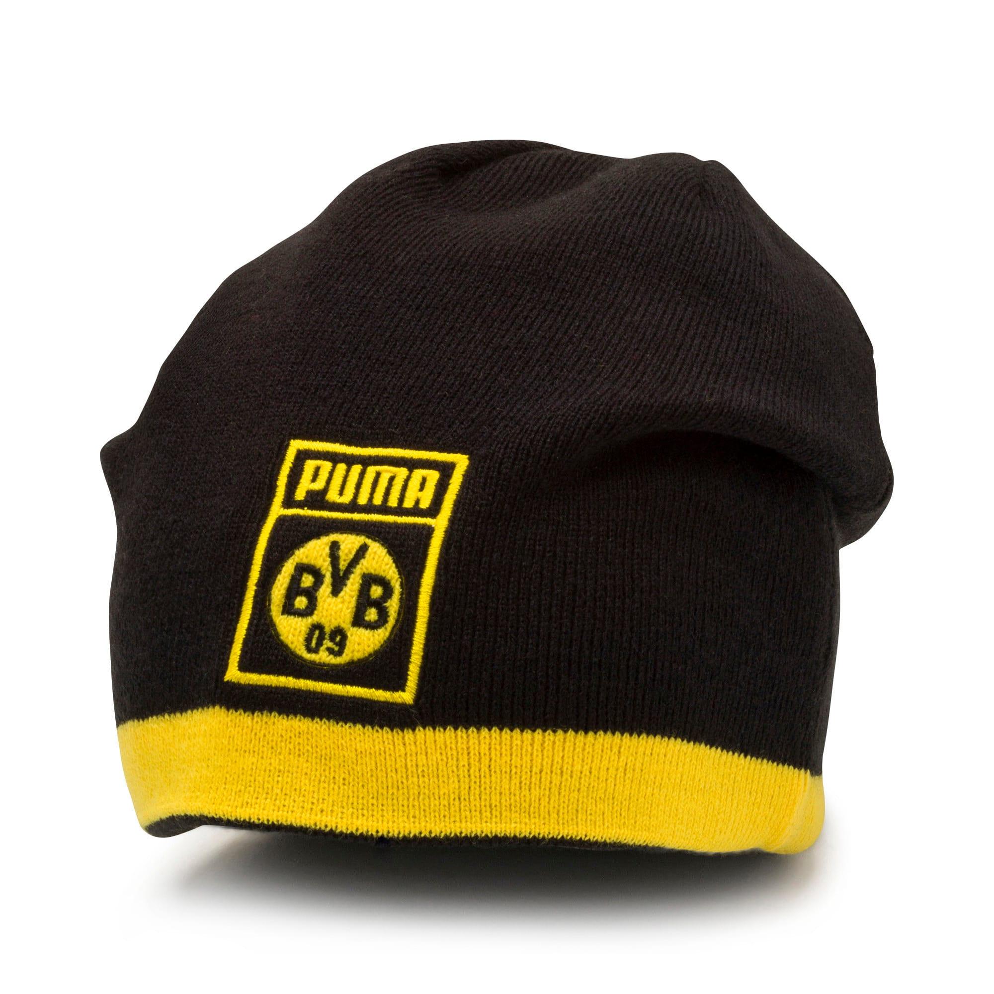 Thumbnail 3 of BVB Reversible Beanie, Puma Black-Cyber Yellow, medium