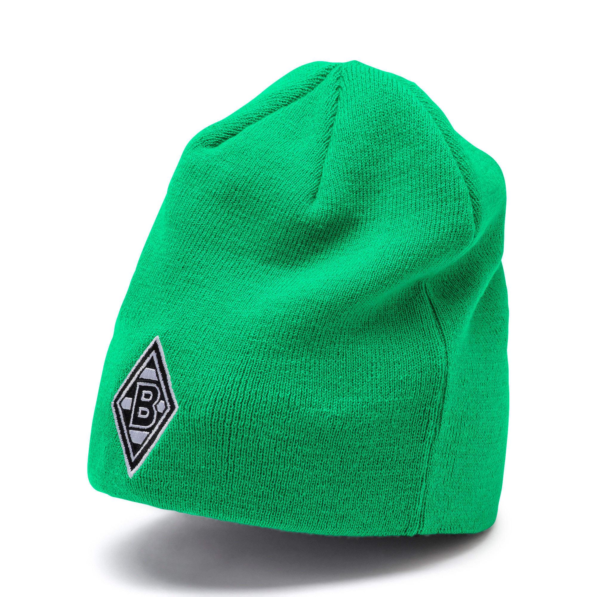 Thumbnail 3 of Borussia Mönchengladbach Reversible Beanie, Puma Black-Bright Green, medium
