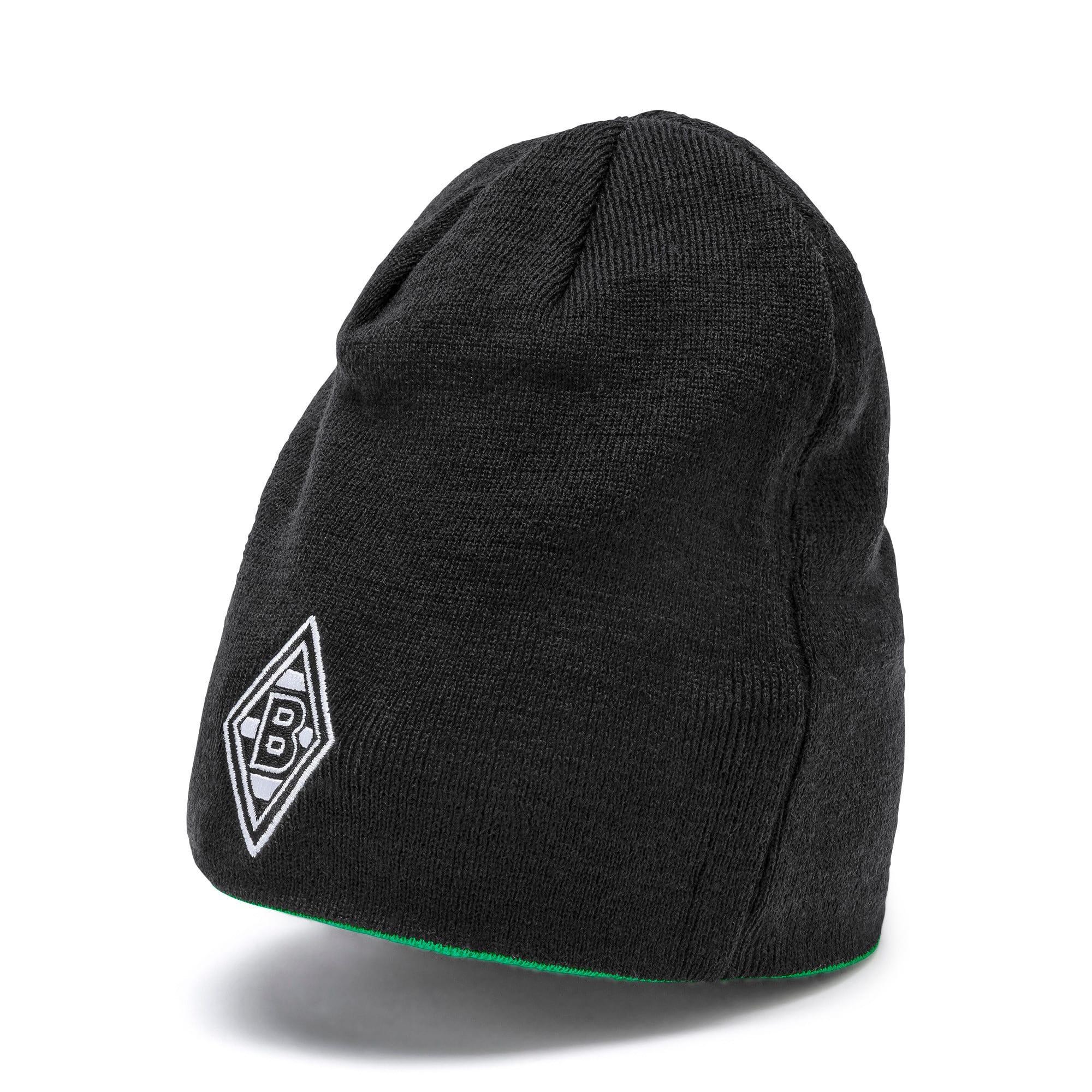 Thumbnail 1 of Borussia Mönchengladbach Reversible Beanie, Puma Black-Bright Green, medium