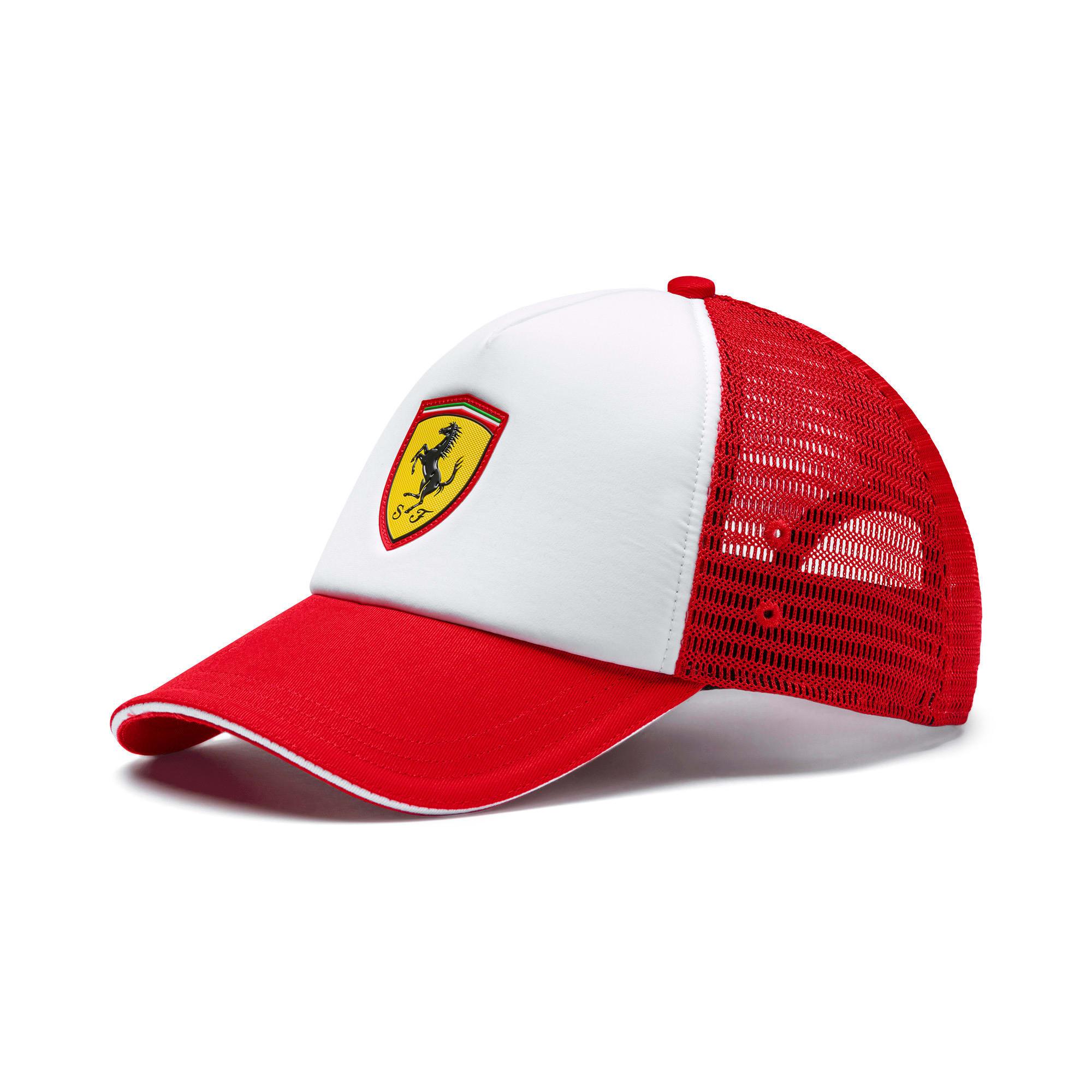 Thumbnail 1 of Scuderia Ferrari Fanwear Trucker BB Cap, Rosso Corsa, medium