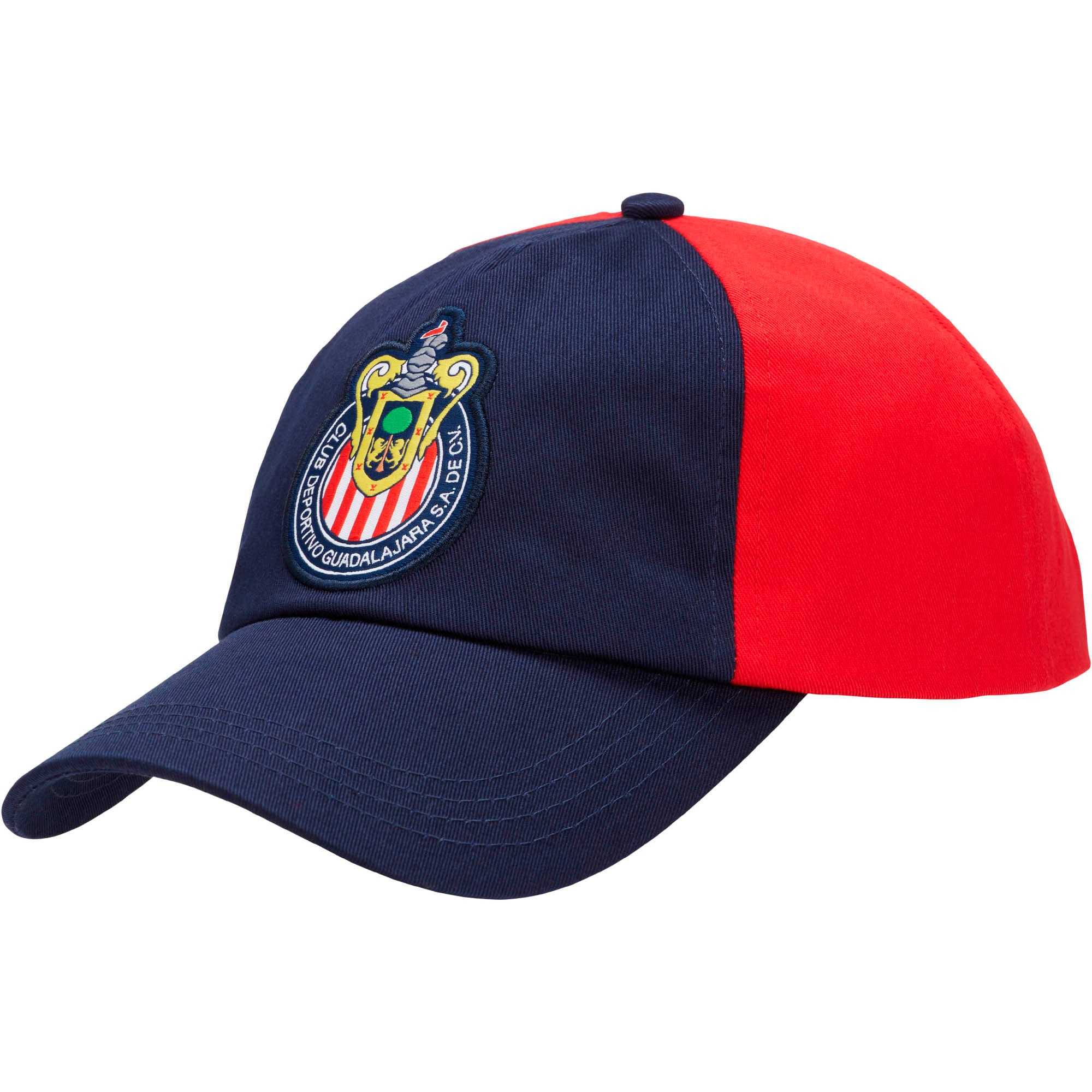 Thumbnail 1 of Chivas Cap, Peacoat-Puma Red, medium