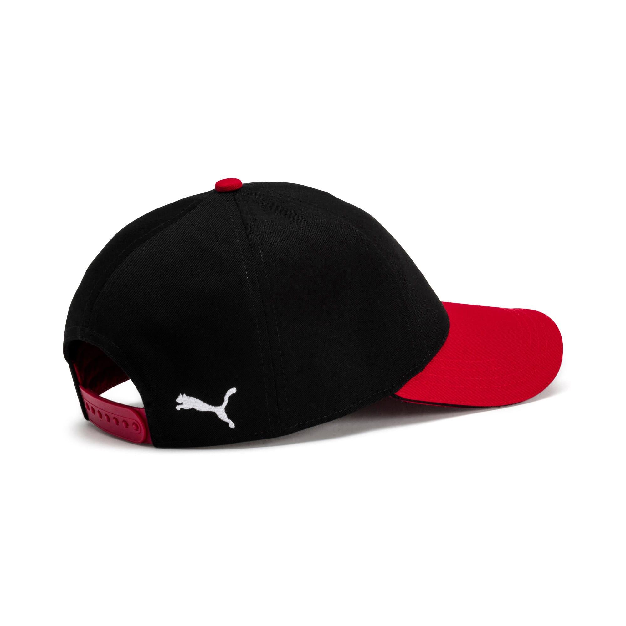 Thumbnail 2 of AC Milan Training Cap, Puma Black-Tango Red, medium
