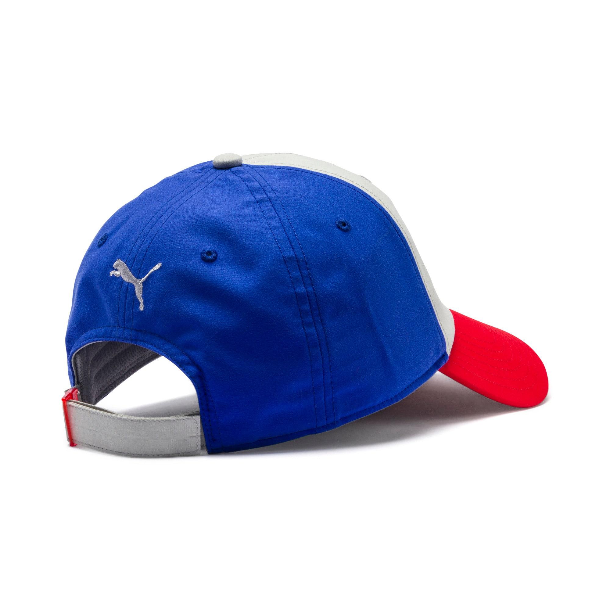 Thumbnail 2 of PUMA x TRANSFORMERS Baseball Cap, Gray Violet-Dazzling Blue, medium