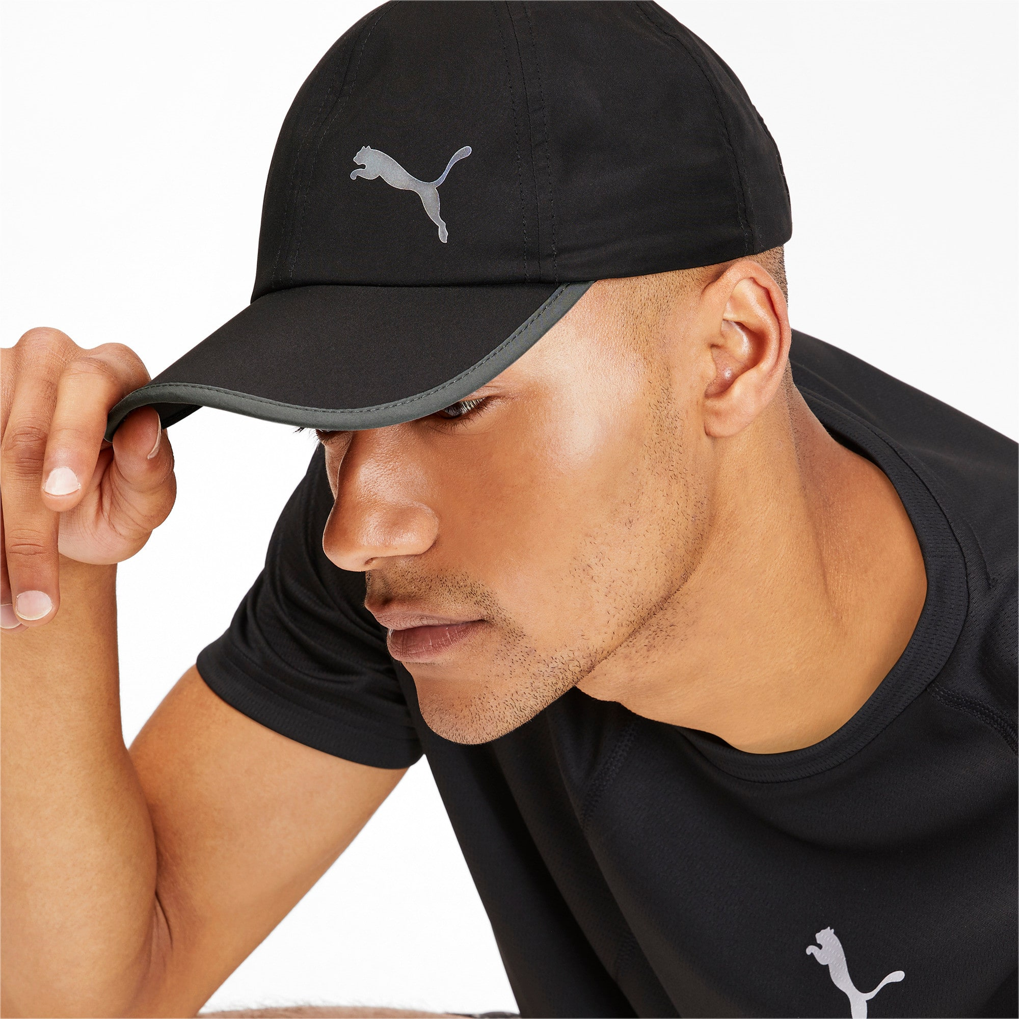 Thumbnail 2 of ESS Running Cap, Puma Black-Cat, medium