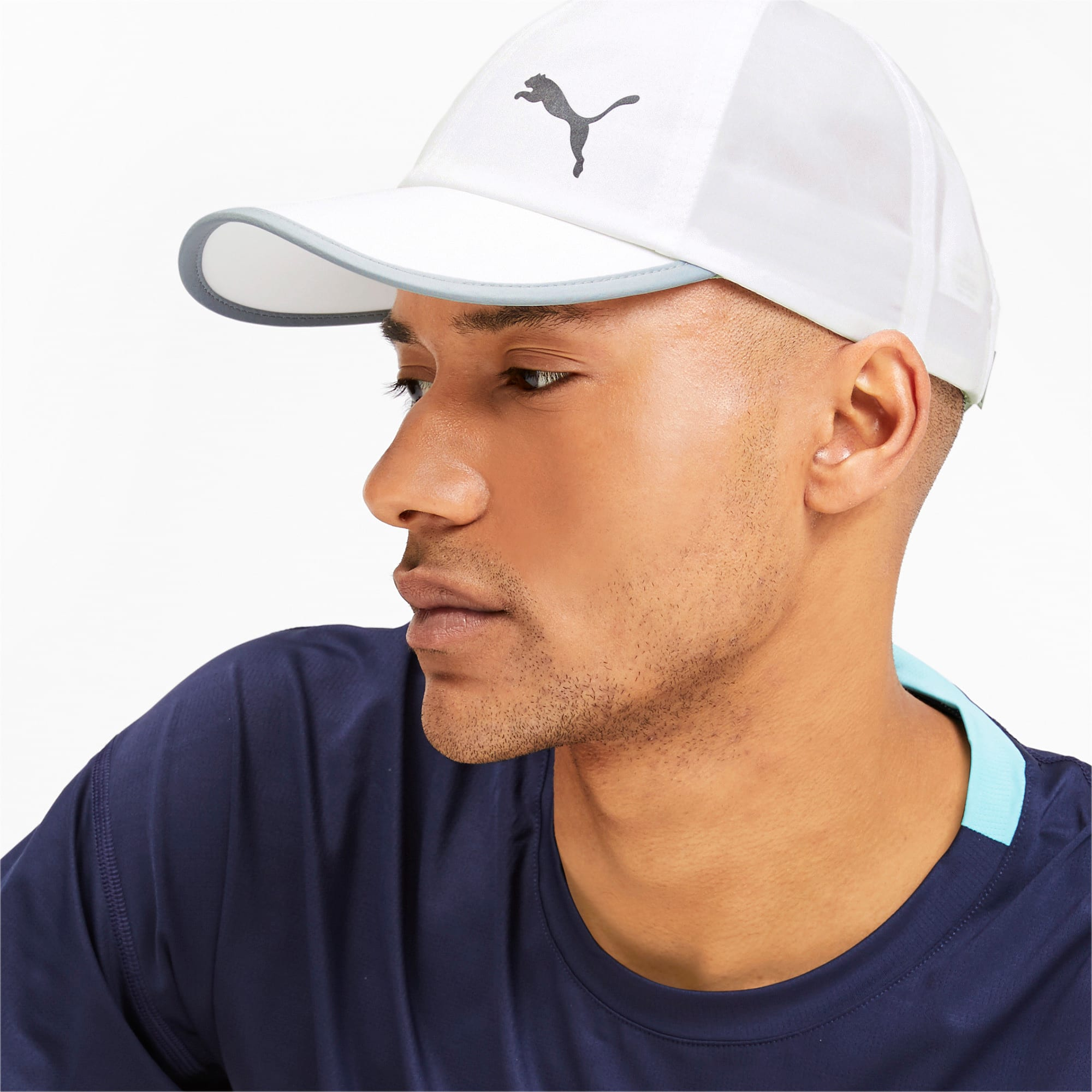 Thumbnail 2 of ESS Running Cap, Puma White-Cat, medium