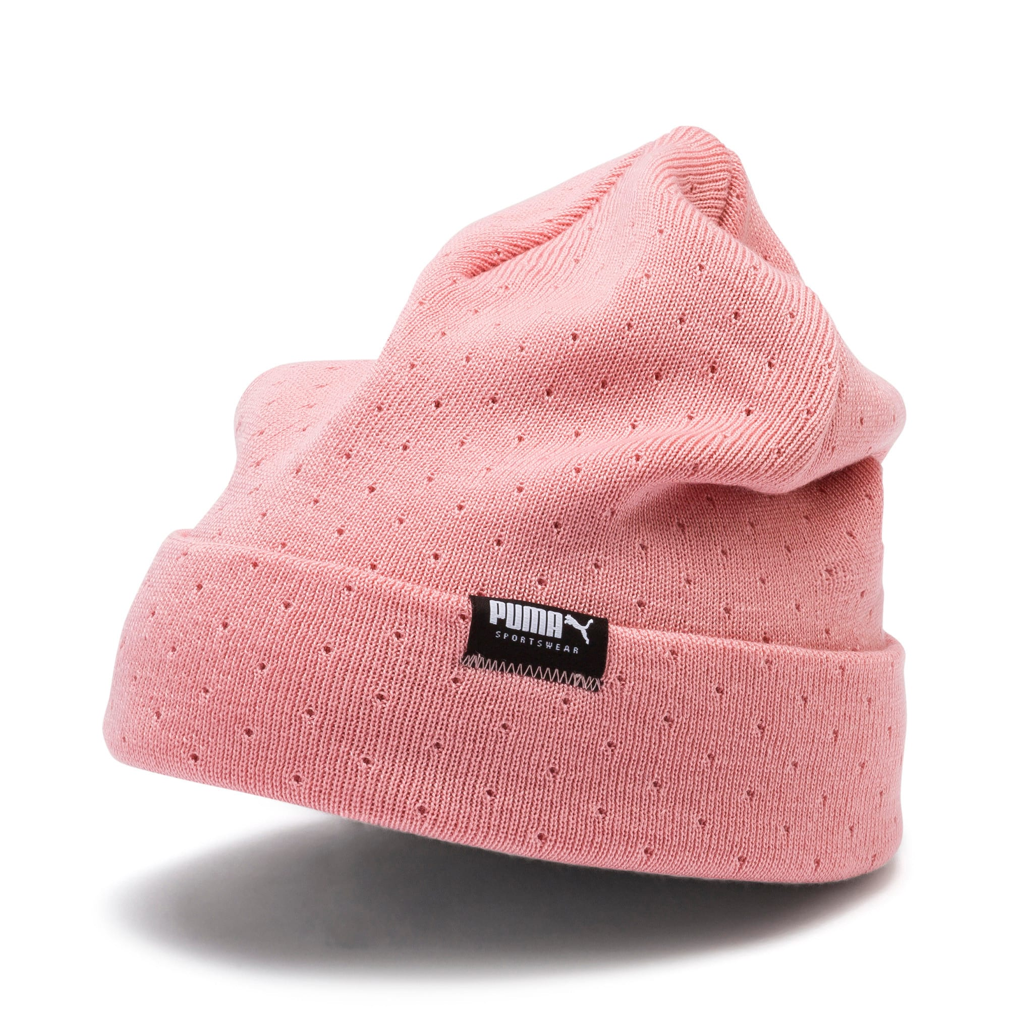 Fold Up beanie voor dames, Bruidroze, large