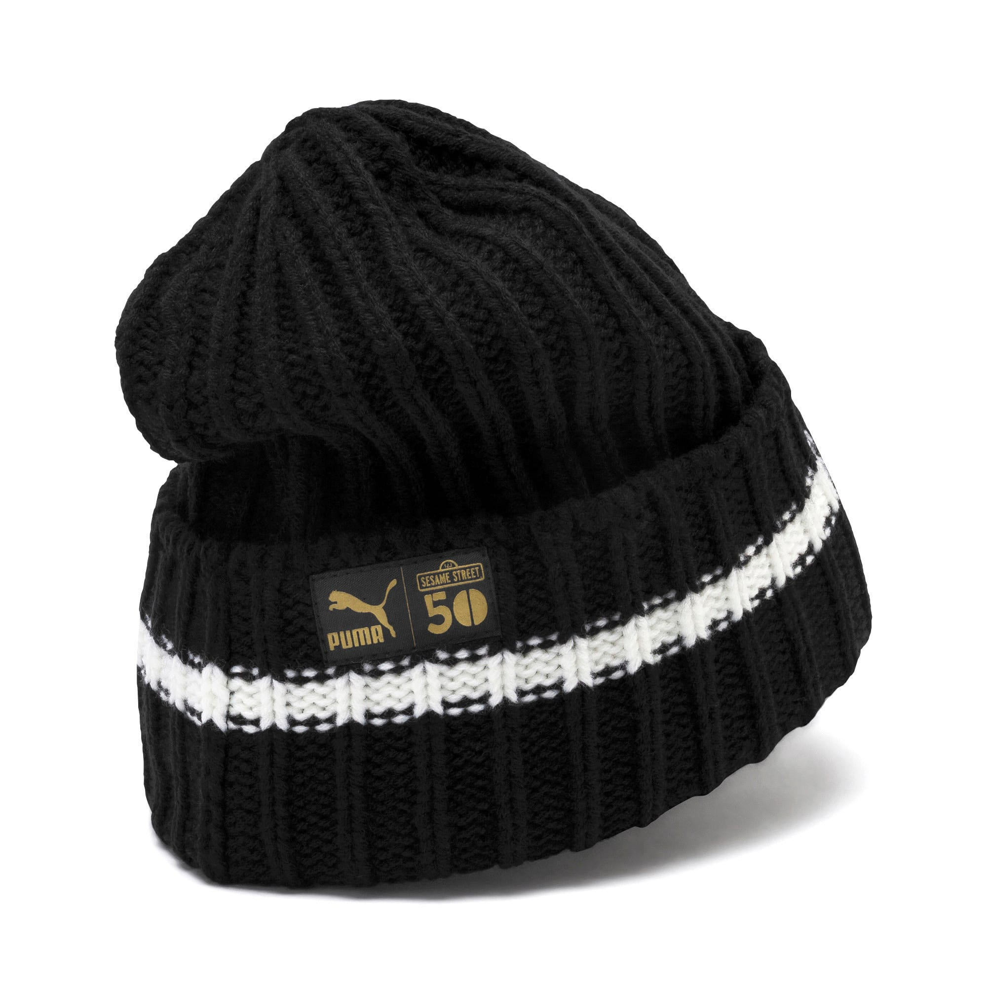 Thumbnail 2 of PUMA x SESAME STREET Kids' Beanie, Puma Black, medium