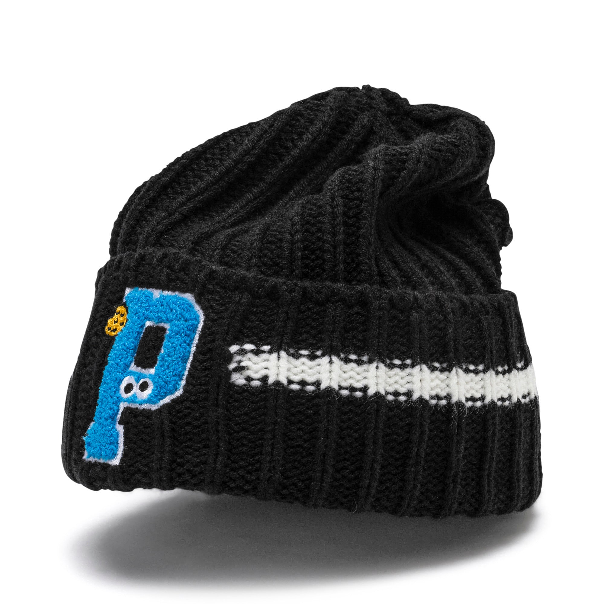 Thumbnail 1 of PUMA x SESAME STREET Kids' Beanie, Puma Black, medium