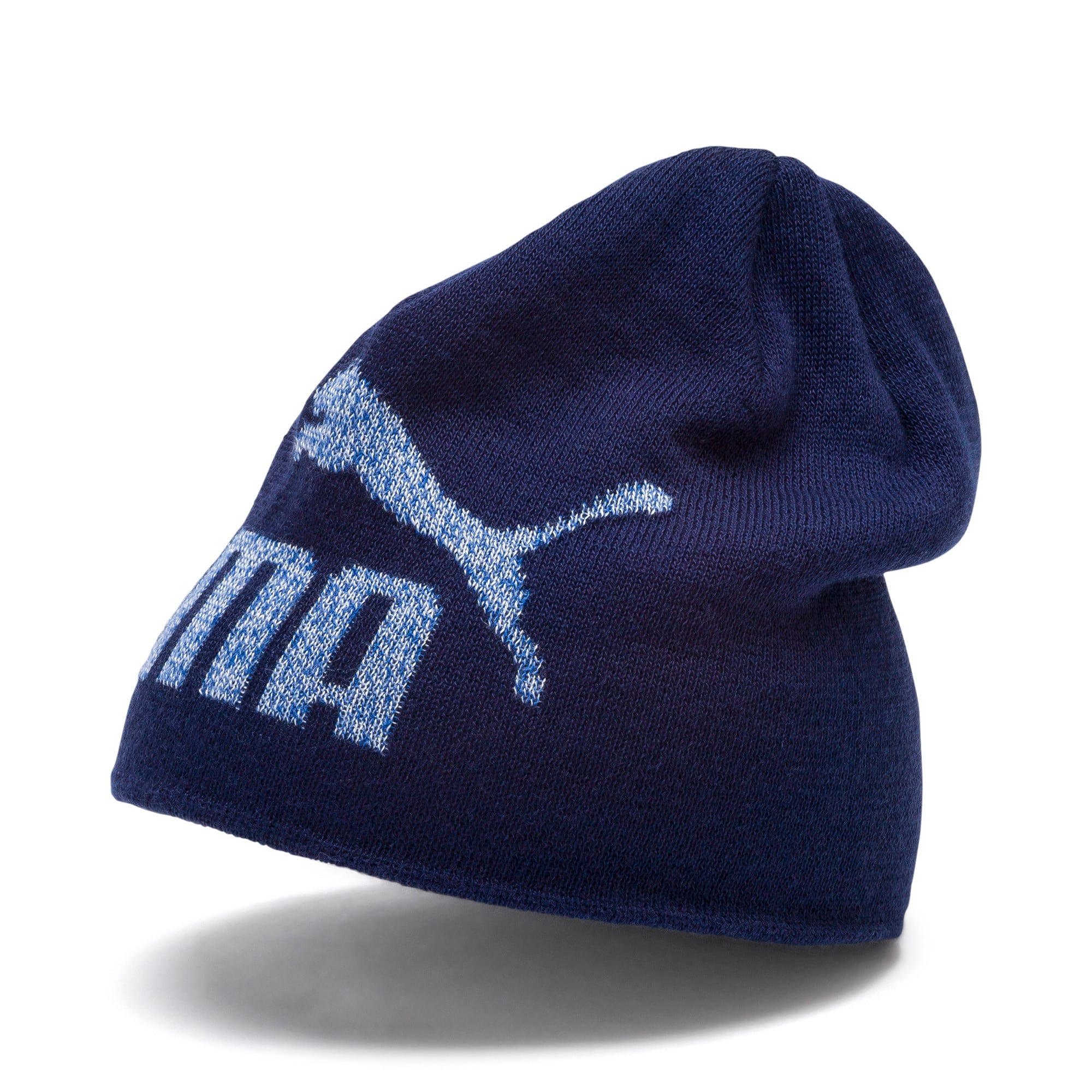 Thumbnail 1 of Essentials Logo Kids' Beanie, Peacoat-No 1, medium