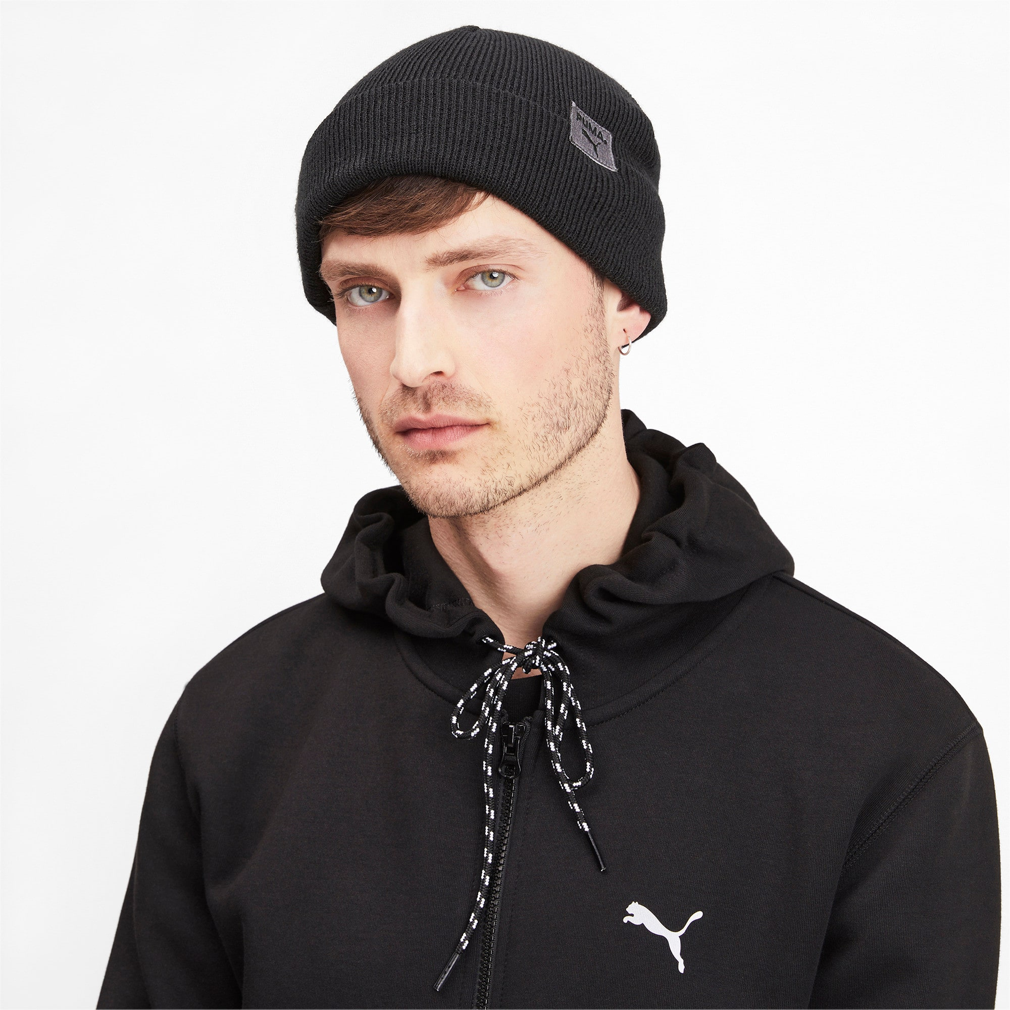 Thumbnail 2 of Epoch Street Beanie, Puma Black, medium