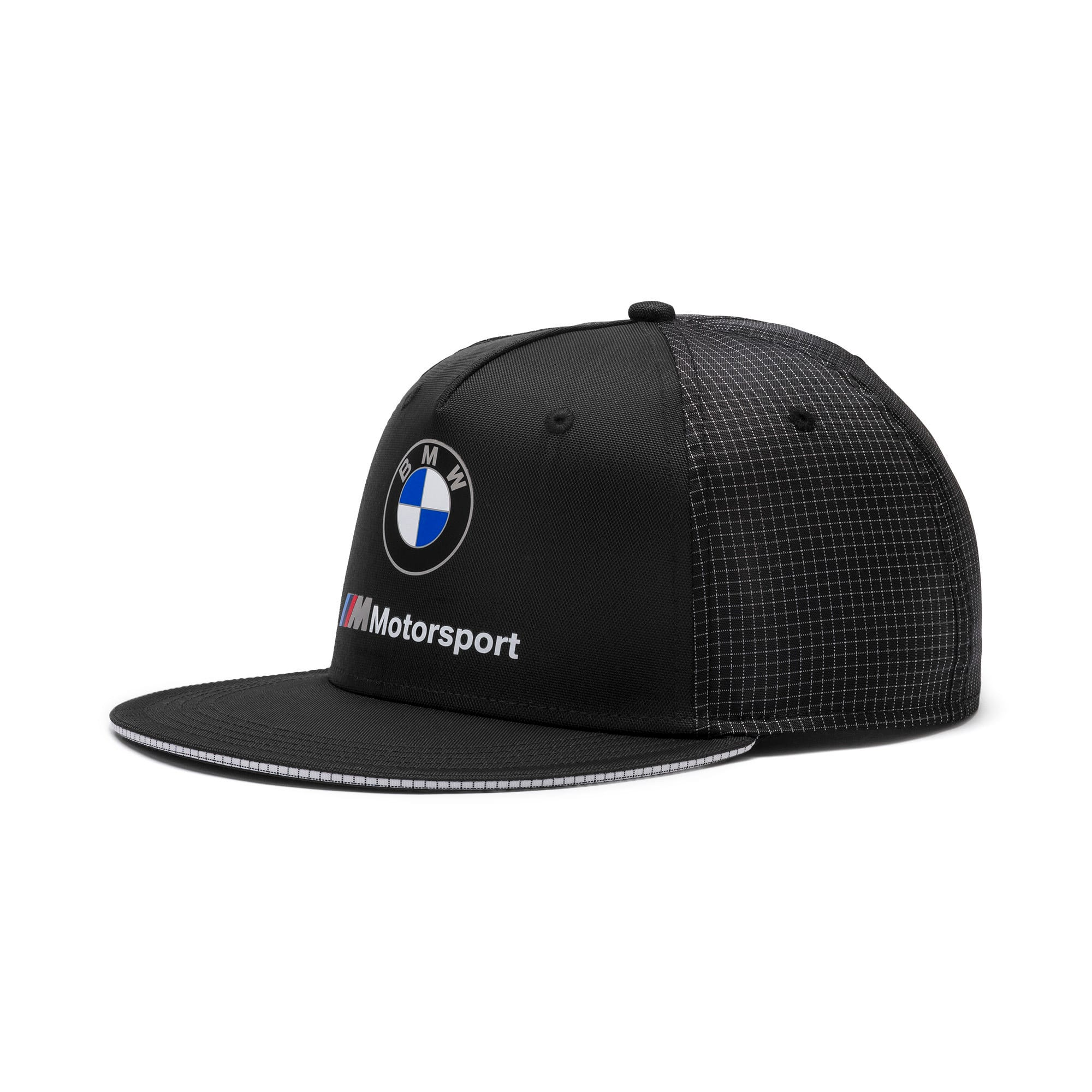 Thumbnail 1 of BMW M Motorsport Flat Brim Cap, Puma Black, medium