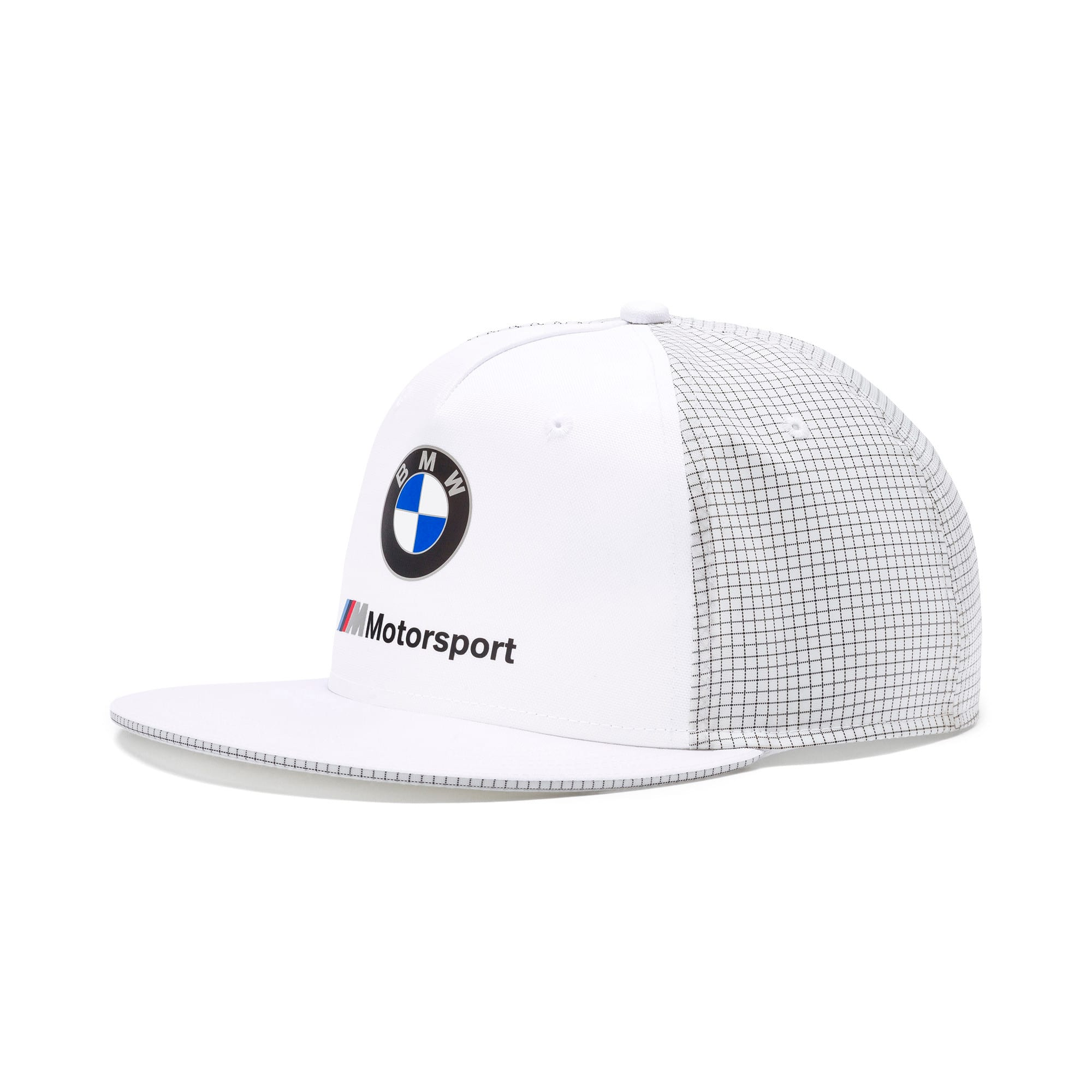 Thumbnail 1 of BMW M Motorsport Flat Brim Cap, Puma White, medium