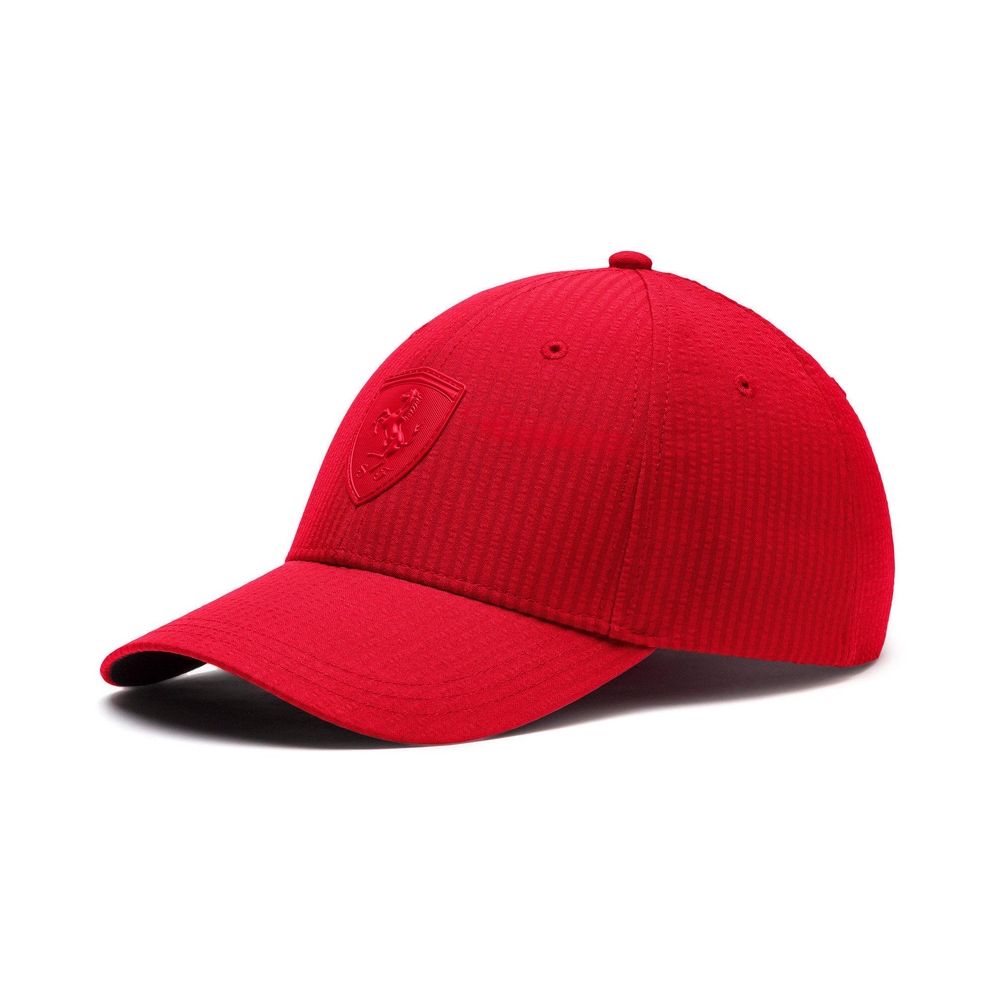 Thumbnail 1 of Ferrari Lifestyle Baseball Cap, Rosso Corsa, medium