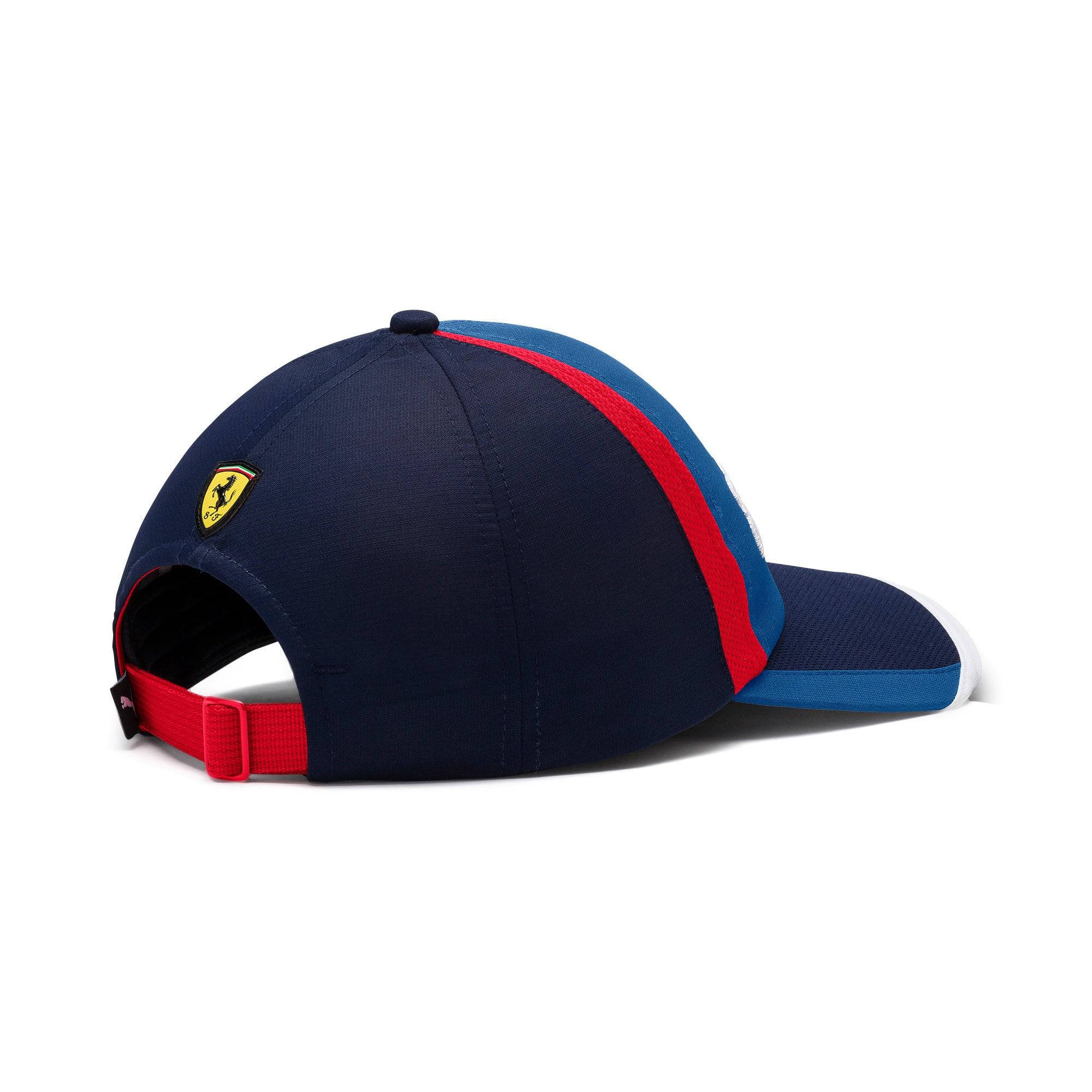 Thumbnail 3 of Scuderia Ferrari Fanwear Street Cap, Galaxy Blue-Rosso Corsa, medium